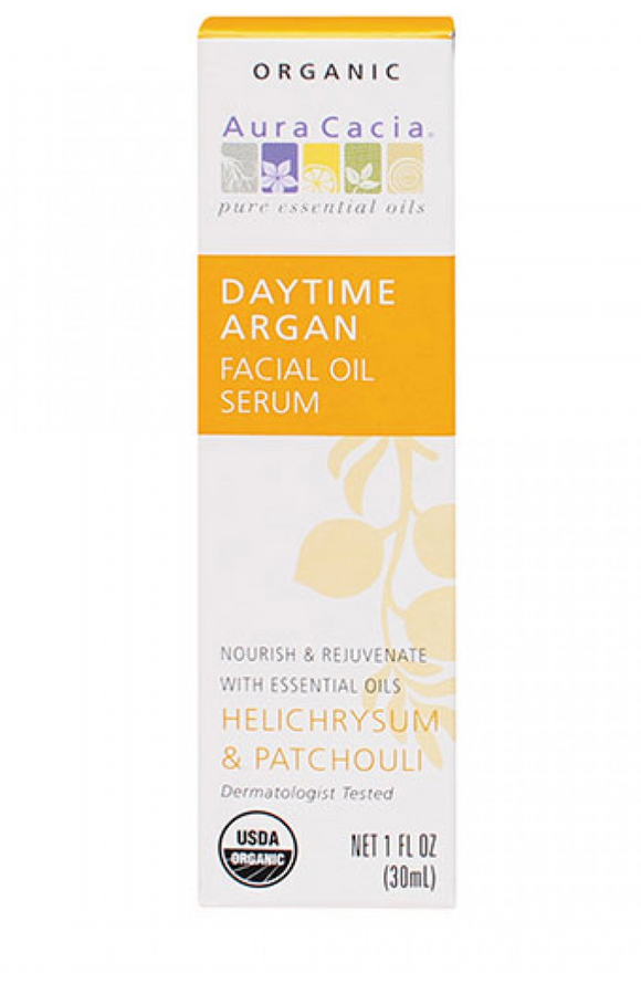 Aura Cacia Daytime Argan Facial Oil Serum 1 fl. oz.