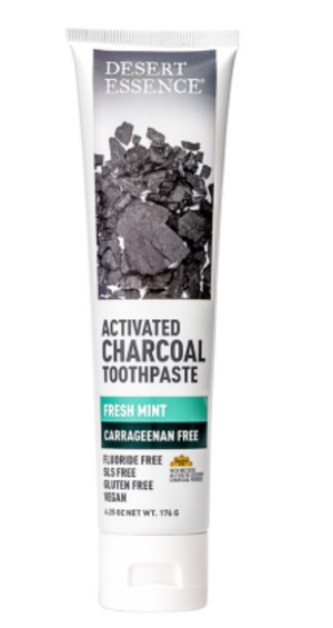 Desert Essence Activated Charcoal Carrageenan Free Toothpaste  6.25oz