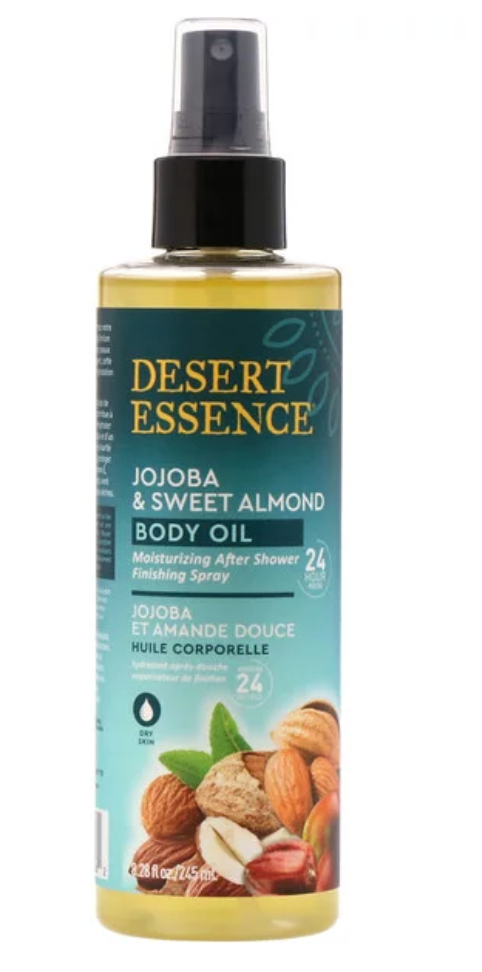 Desert Essence Jojoba & Sweet Almond Body Oil 8.28 oz