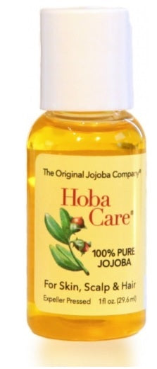 Hoba Care Jojoba Oil 100% Organic Travel Size 1 fl oz