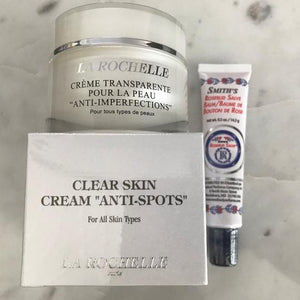 La Rochelle Creme Transparente anti-imperfections cream + Rosebud Salve Lip Balm Tube!