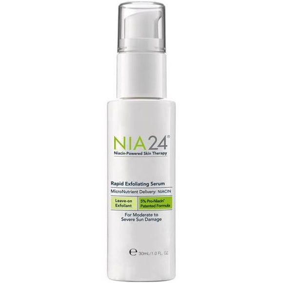 Nia 24 Rapid Exfloiating Serum 30ml/ 1oz. For Sun & Age Damage