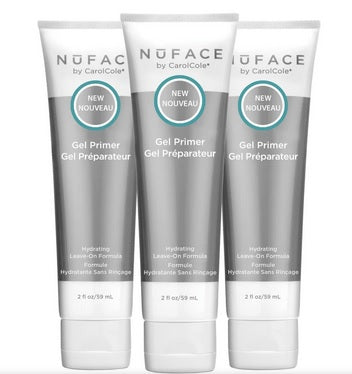Nuface Hydrating Leave-On Gel Primer 2 oz  Pack of 3