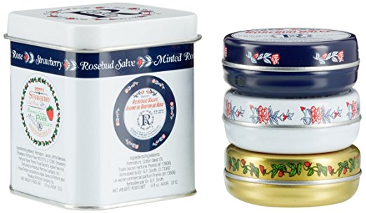 Smith's Rosebud Salve Pack of 3 ( Original, Minted Rose, Strawberry)