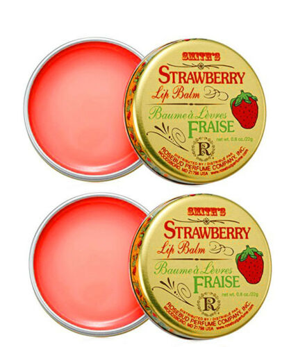 Smith's Rosebud Salve Strawberry Tin Pack of 2