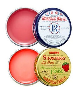 Smiths Rosebud Salve Tin Original and Strawberry Pack of 2