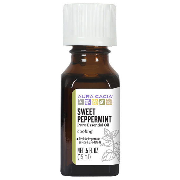 Aura Cacia Sweet Peppermint Essential Oil 0.5 fl. oz.