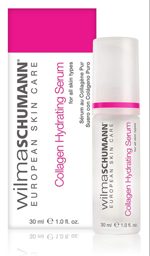 WILMA SCHUMANN Collagen Hydrating Serum - Pure and Natural Facial Moisturizer, Helps Promote New Collagen in All Skin Types 1oz/30ml