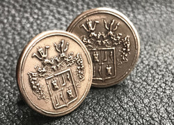 Copy of Cuff  Links Cufflinks in Solid Golden Bronze with  Crest  Coat of Arms - Custom - EXAMPLE