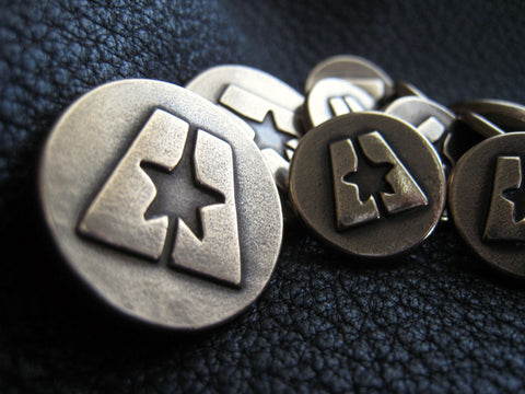 Custom BRONZE Blazer Buttons in Solid BRONZE with Business Logo design