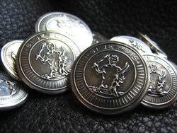 Sterling Custom Blazer Buttons Clan Badge Coat of Arms Family Crest 25th Anniversary Wedding Gift
