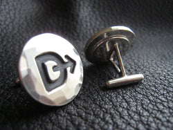 Ranch Brand Cattle Brand Cufflinks in Sterling Silver