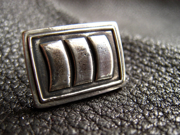 Custom Tie Tac or Lapel Pin in Sterling Silver - Company of Business Logo - EXAMPLE
