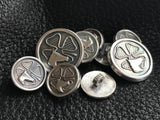 Custom Blazer Buttons in Sterling Silver Company Logo Coat of Arms Family Crest 25th Anniversary