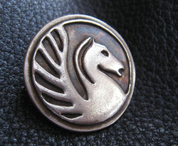 Brooch Pin in SOLID BRONZE with School or Business Logo -  EXAMPLE