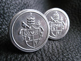 Cuff  Links Cufflinks in Sterling Silver with Crest or Coat of Arms - Custom - EXAMPLE