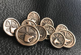Custom Blazer Buttons in Solid BRONZE with Riding Club Logo