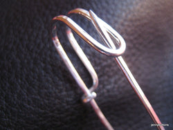 Kilt Shawl Safety Pin Sterling Silver Hand Hammered - Flora MacDonald
