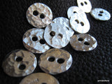SET Thorsson Hand Hammered 1/2 inch Fine Silver Buttons Set of 7 Buttons