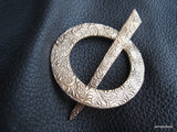 Cloud Lace Bronze Shawl Pin Ring and Stick