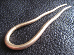 Ondine Wavy U shaped Bronze Shawl Pin/Hair Pin