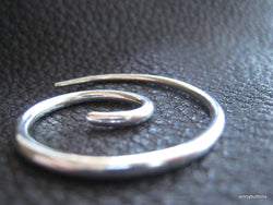 Small Spiral Lightweight Shawl Pin Shawl Screw in Fine Silver