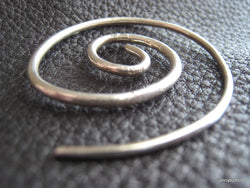 Large  Spiral Shawl Pin Shawl Screw in Sterling Silver