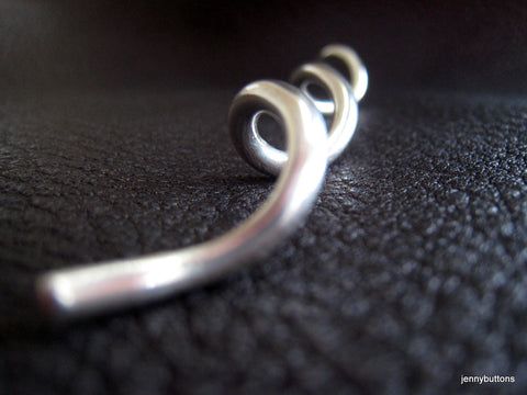 Watson Helical Spiral Shawl Pin Shawl Screw  Hair Pin in Sterling Silver