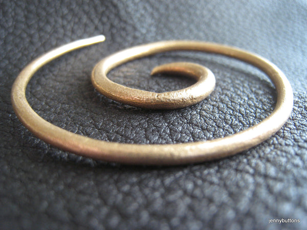 Golden Galaxies LARGE Bronze Spiral Shawl Pin Screw Clasp