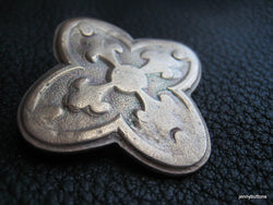 Paris Flea Market Bronze Quatrefoil Large Button  Solid Bronze