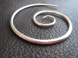 Mega Galaxy Sterling Silver Spiral Heavy Weight Large Shawl Pin