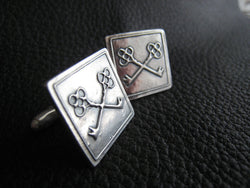 Cufflinks with Custom Design in Sterling Silver - 25th Anniversary Gift - Wedding Gift - EXAMPLE