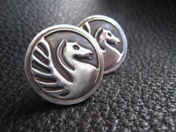 CUSTOM Sterling Silver Cufflinks Wedding Logo School Logo Business Logo - EXAMPLE