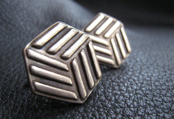 Golden Bronze Cuff Links Cufflinks with Company Logo CUSTOM - EXAMPLE