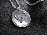 Butterfly Sterling Silver Pendant Necklace