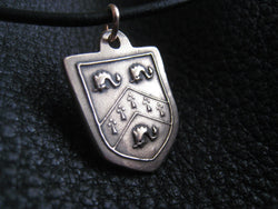 Pendant Necklace in Solid Golden Bronze with  Crest  Coat of Arms - Custom - EXAMPLE