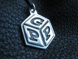 Baby Alphabet Block Silver Pendant Necklace Purse or Diaper Bag Charm Zipper Pull