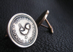 Cuff Links - Golden Solid Bronze Cuff Links Cufflinks with Custom Design - Example