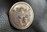Brooch Pin in Solid BRONZE with Family Crest Coat of Arms Heraldry -  EXAMPLE