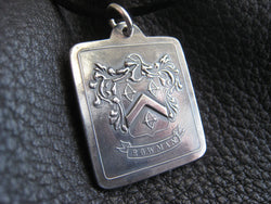 Family Crest Coat of Arms Heraldry Medallion Pendant inSterling Silver - Custom - EXAMPLE
