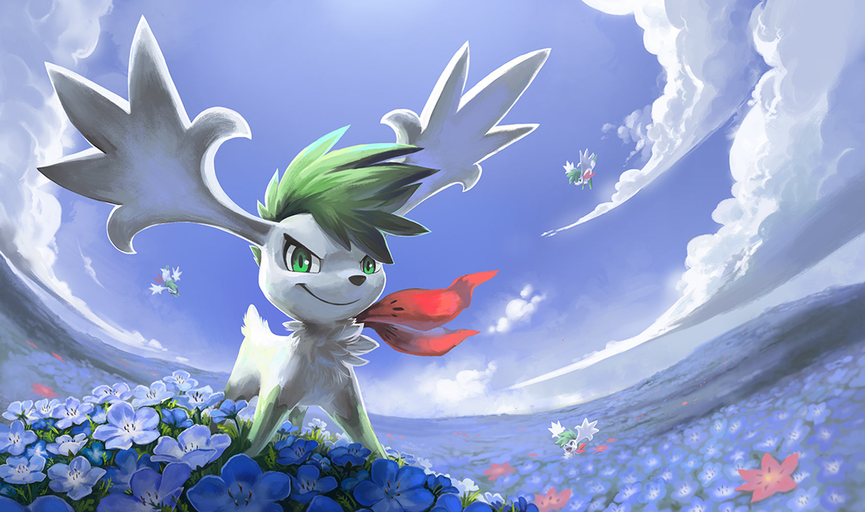 shaymin sky forme playmat crow party