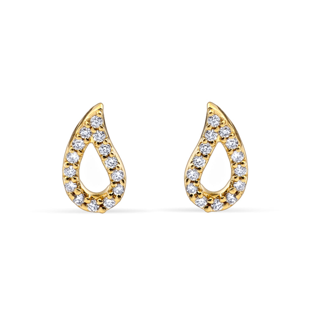 Rain Droplet Stud Earrings