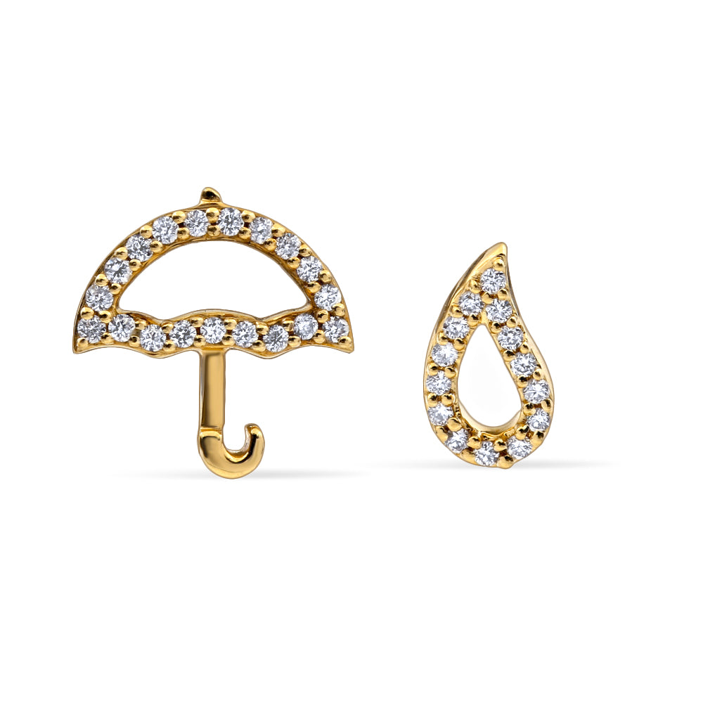 rain stud umbrella khai droplet mismatched earrings products