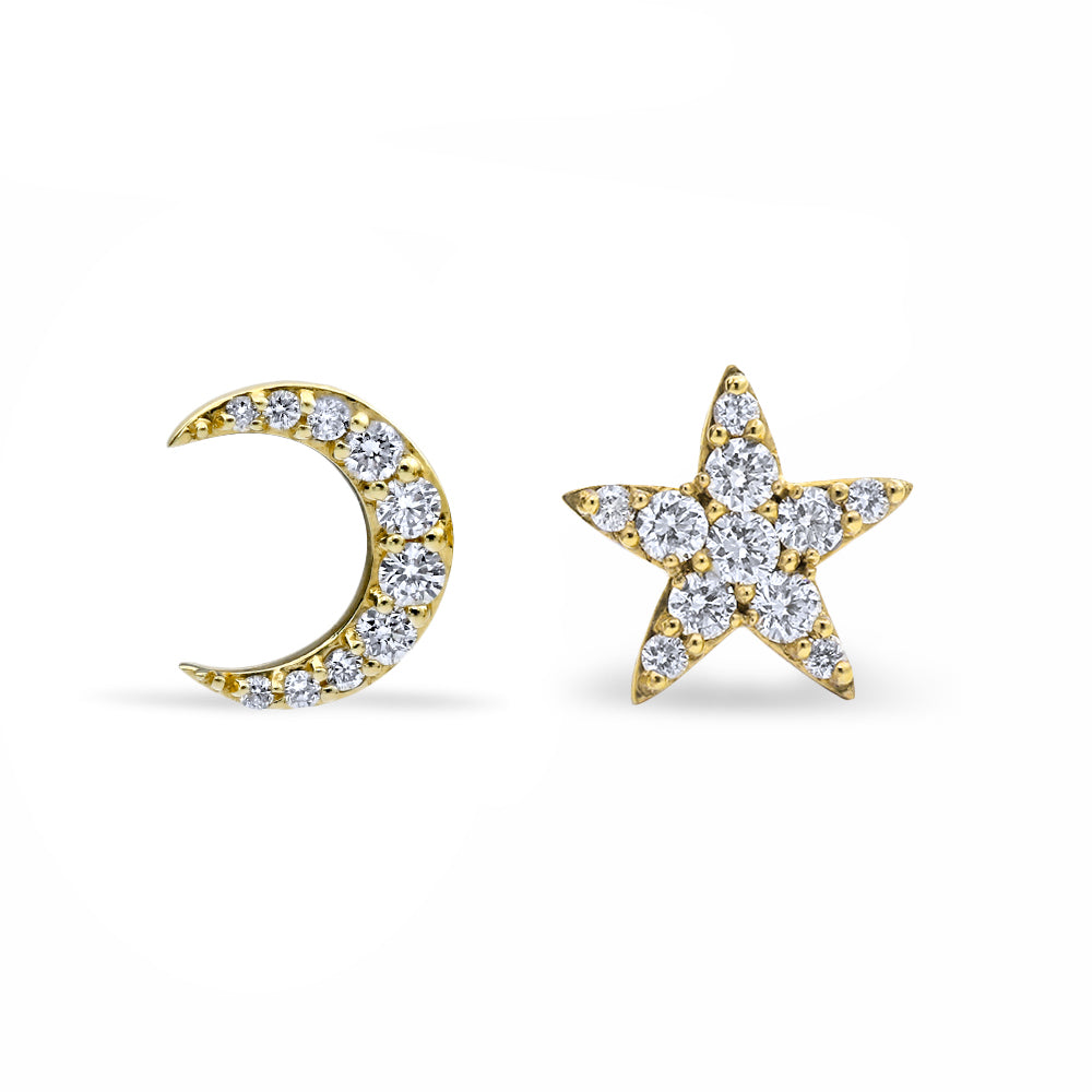 stud pin initial mismatched earrings