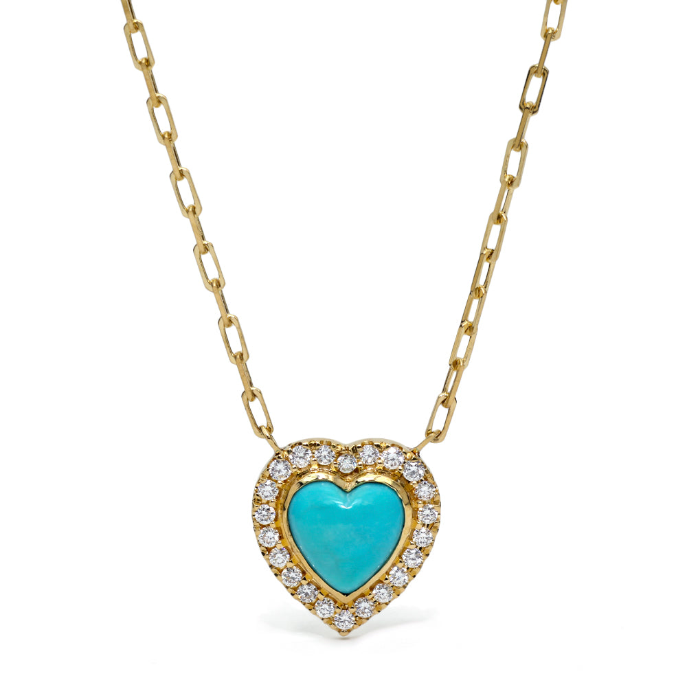 Sleeping Beauty Heart Necklace