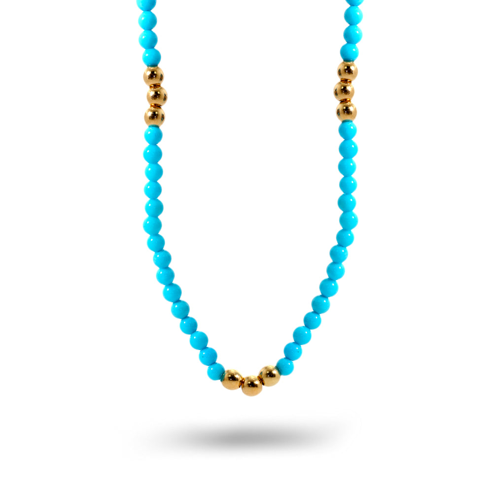 Turquoise Bead Necklace 2.5mm