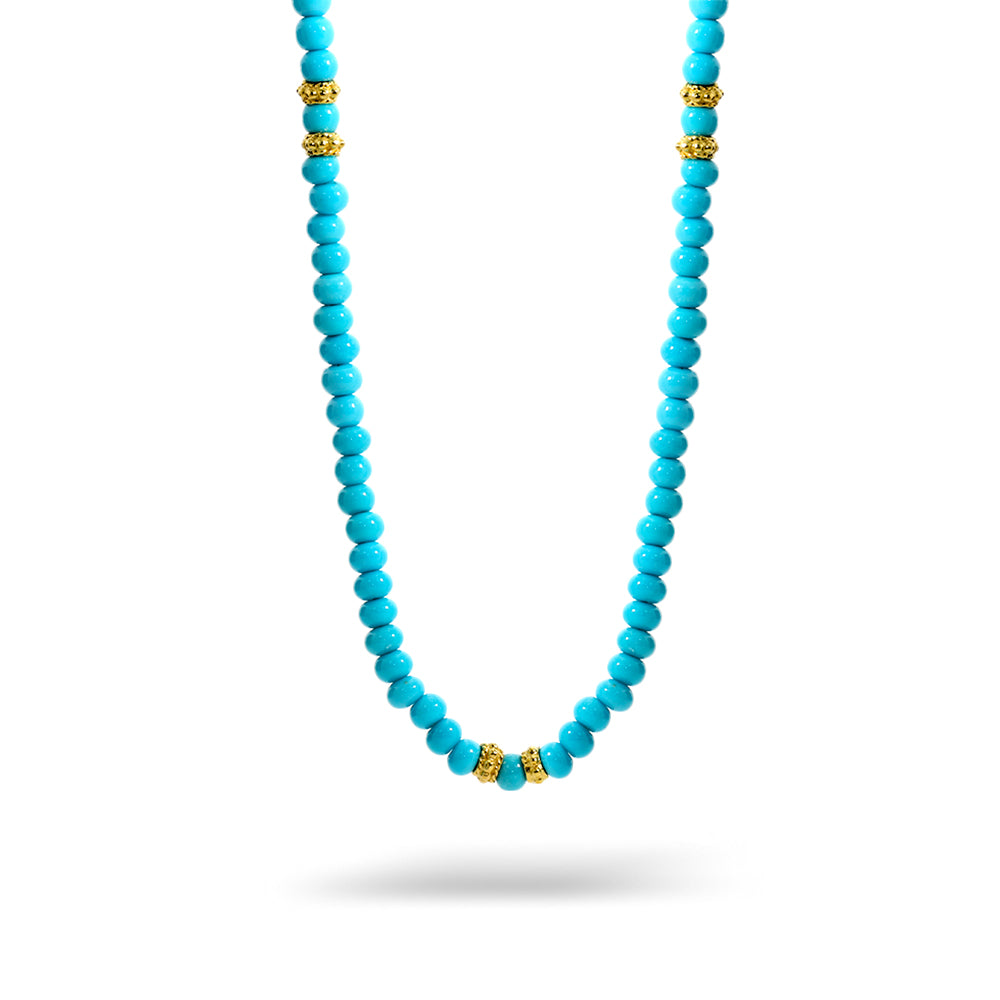 Turquoise Bead Necklace 3.5mm