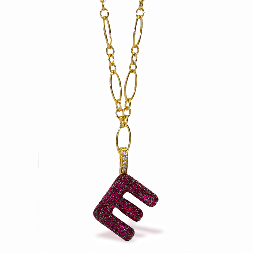 "Gummy Letter ""E"" Clip-On Charm"