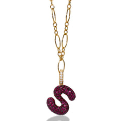 "Gummy Letter ""S"" Clip-On Charm"