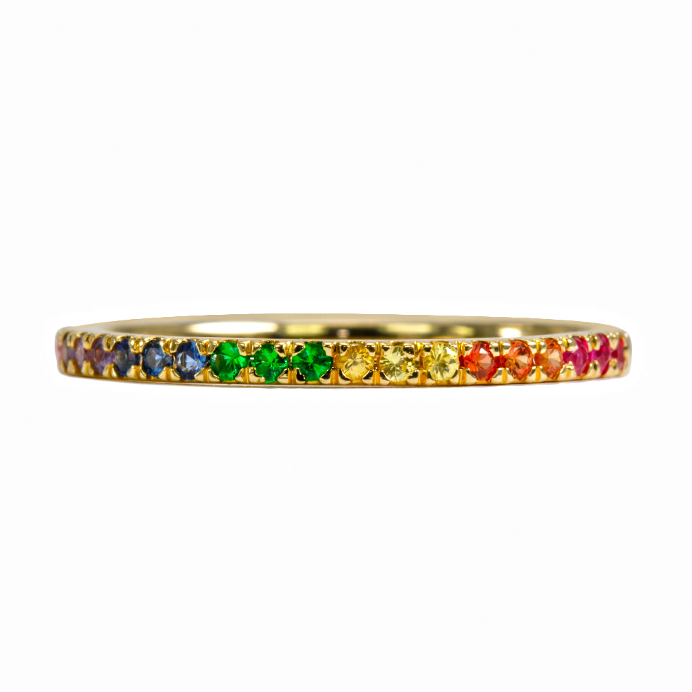 Rainbow Thread Ring